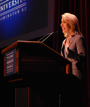 Dana Bash spoke to students and parents