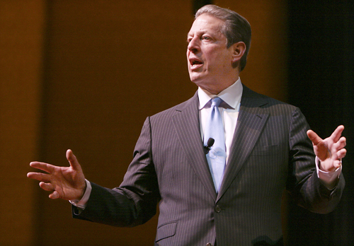 Al Gore spoke in Lisner Auditoriun on Thursday night in an event cosponsored by D.C. Bookstore Politics and Prose. Michelle Rattinger/Assistant Photo Editor