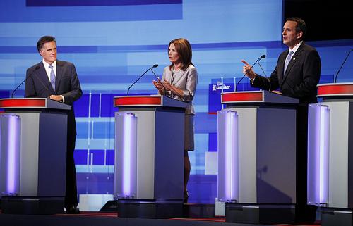 Mitt Romney, Michele Bachmann, Tim Pawlenty, Republican Debate