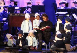 Michelle Obama, christmas tree lighting, christmas