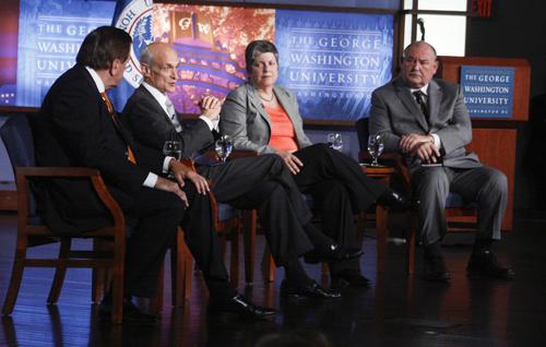 Janet Napolitano, Michael Chertoff, Tom Ridge, Thad Allen, Homeland Security