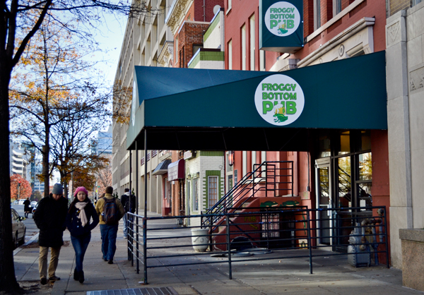 With pool, half-priced pizza and beer every Monday, Froggy has become a campus staple. The pub, which will likely shutter its doors by 2014 when GW redevelops the row of townhouses, has attracted members of the community for more than two decades.