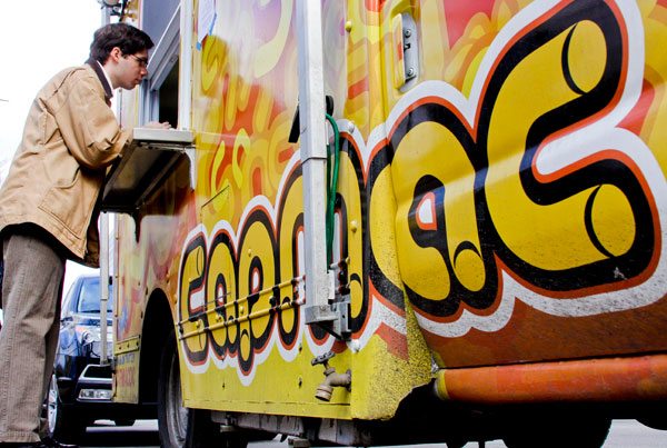 CapMac made its final stop on campus Thursday. The food truck has been a staple at GW for the last three years.