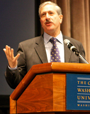 Provost Steven Lerman led the plan's steering committee, finalizing four themes for academic future.