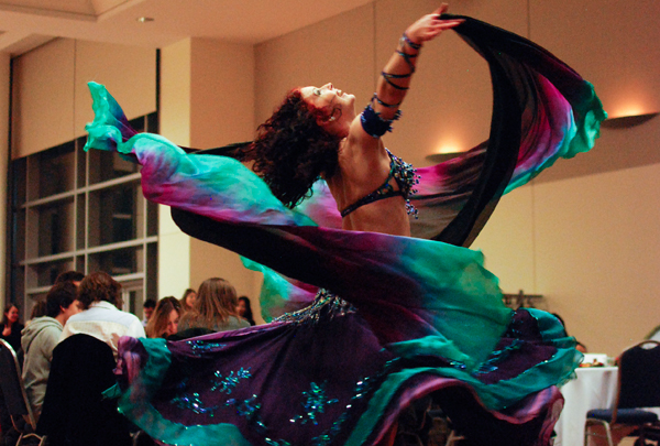 Samira Shuruk, a professional belly dancer, performed March 2 during the Turkish Student Association's fifth-annual Turkish Night in the Marvin Center. The event offered authentic Turkish cuisine, music and entertainment, as well as a speech from a Turkish Embassy official.
