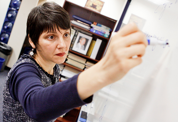 Assistant professor Raluca Teodorescu will use a $10,000 grant to examine the effectiveness of online learning as the University prepares to roll out a set of massive open online courses.