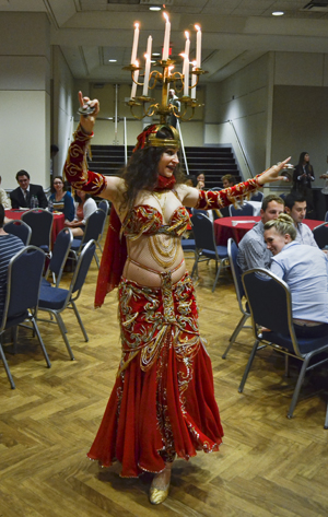 Belly Dancer Jasmeena at GW Turkish Night.  Erica Christian | Hatchet Photographer