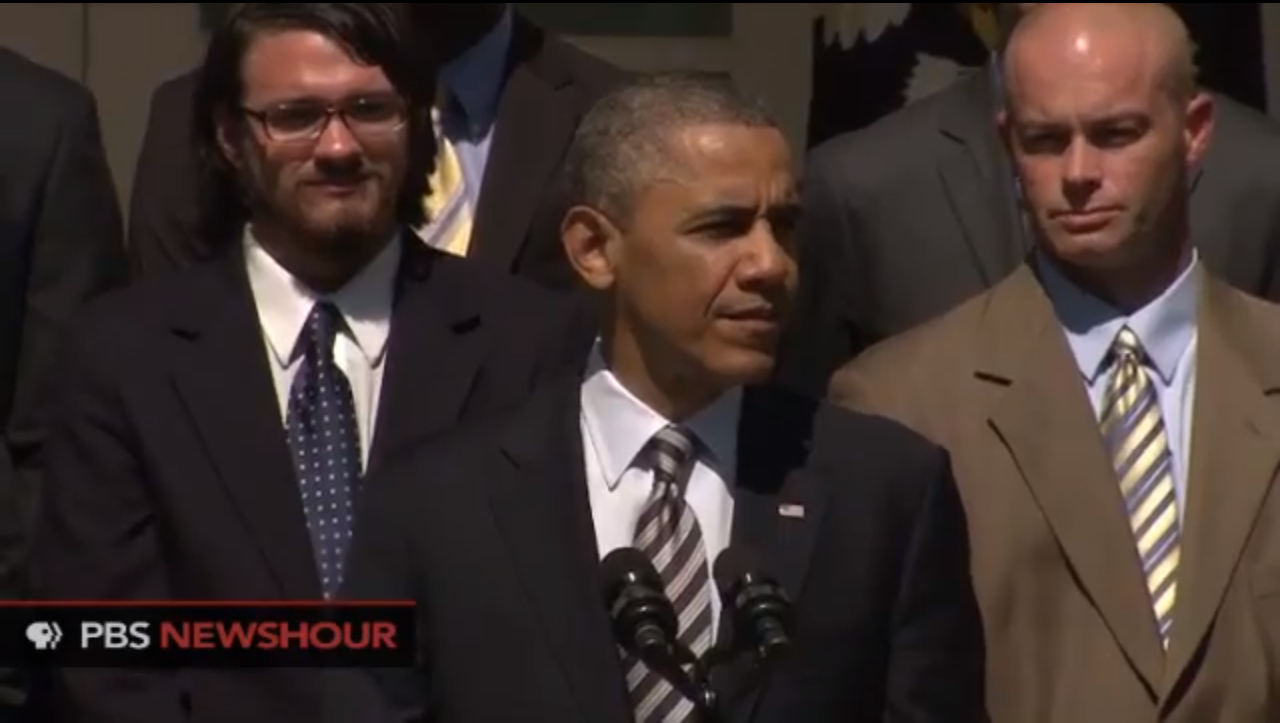 Student's advocacy lands him next to Obama at White House speech