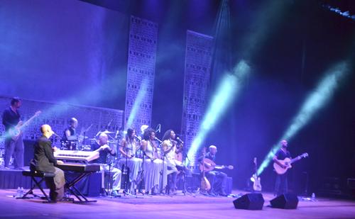 The ten-piece Idan Raichel project had crowds dancing at Lisner Auditorium Tuesday night. Miranda Houchins | Hatchet Photographer