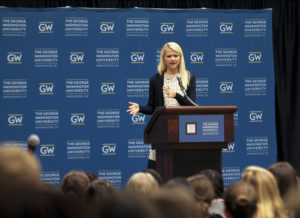 "Elizabeth Smart, who was kidnapped at age 14, spoke Thursday about her book, ""My Story"" and how survivors of abuse can move forward. Delaney Walsh 