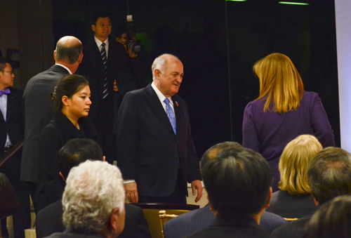 University President Steven Knapp at an event for the Confucius Institute in the fall. Erica Christian | Photo Editor