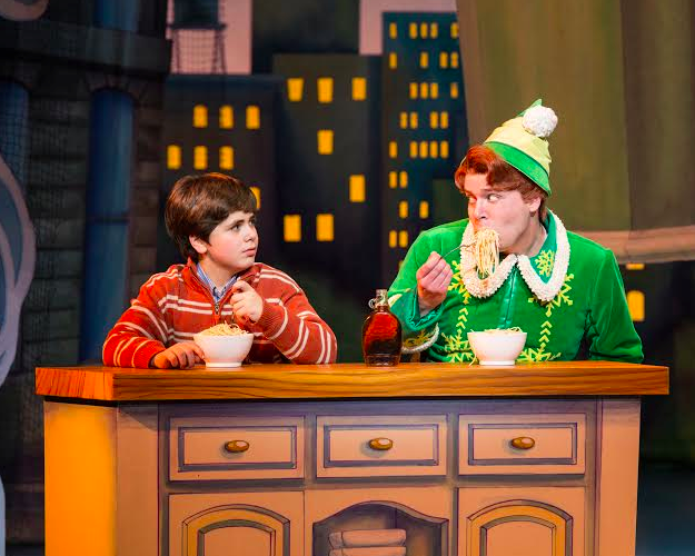 Noah Marlowe (Michael) and Will Blum (Buddy) in ELF The Musical.  © Amy Boyle Photography 2013. Photo courtesy of the Kennedy Center for the Performing Arts.