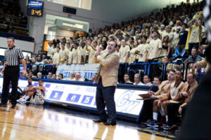 Head coach Mike Lonergan and the Colonial faithful should shake off Tuesday's loss. Hatchet File Photo