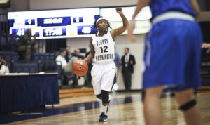 Graduate student Danni Jackson will look to run the Colonials offense with precision Saturday. Hatchet File Photo