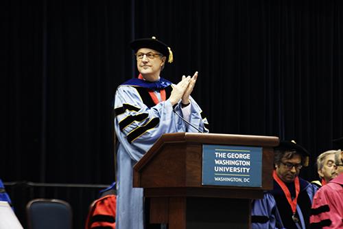 Elliott School Keynote Address speaker Professor David Shambaugh. Cameron Lancaster | Assistant Photo Editor