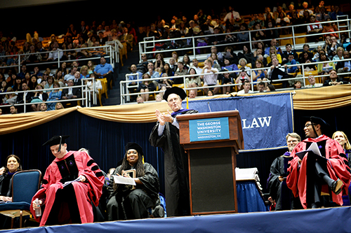 W. Bruce Sewell J.D., '86, addressed the law school's graduates Sunday. He is the general counsel and senior vice president of legal and government affairs at Apple Inc. Samuel Klein   Senior Photo Editor