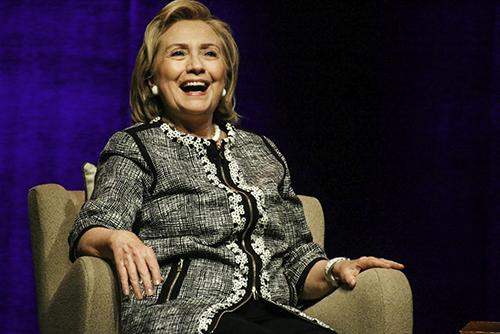 "Former Secretary of State Hillary Clinton promoted her new book ""Hard Choices"" at Lisner Auditorium Friday. Desiree Halpern | Senior Staff Photographer"