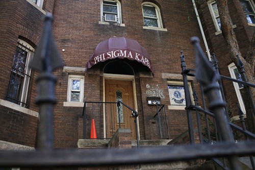 A sophomore will serve as president of GW's Phi Sigma Kappa chapter for the rest of the semester. The change comes after a student reported that she was sexually assaulted at the chapter's townhouse at 601 21st St. Hatchet File Photo by Nicole Radivilov | Contributing Photo Editor
