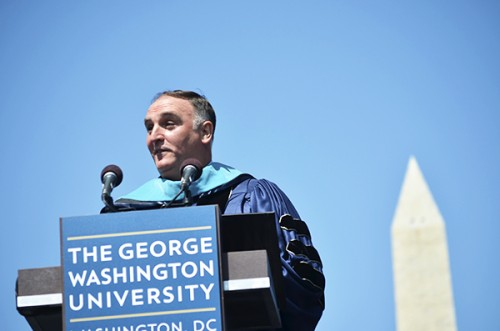 José Andrés delivered the Commencement address to the Class of 2015. Hatchet File Photo