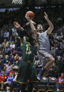 Junior Patricio Garino led the Colonials in scoring on Saturday with 14 points. Cameron Lancaster | Photo Editor