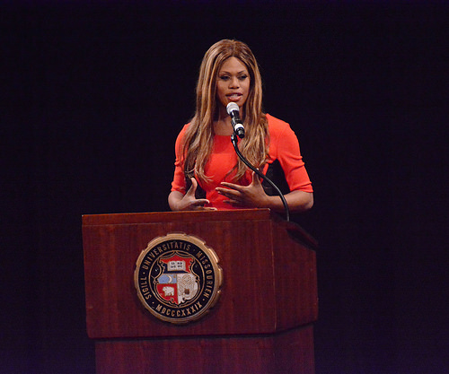 "LGBT advocate and ""Orange is the New Black"" actress Laverne Cox will speak on campus in March. Photo by flickr user KOMUnews used under a CC BY 2.0 license."