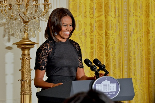 First Lady Michelle Obama rang in the Iranian New Year, Nowruz, with a ceremony in the East Room of the White House. Kiana Robertson | Hatchet Photographer