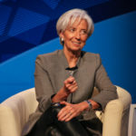 Managing Director of the International Monetary Fund Christine Lagarde spoke in Lisner Auditorium Thursday as a part of the IMF's spring meetings about the world economy and the state of countries such as Greece and Iran. Desiree Halpern | Contributing Photo Editor