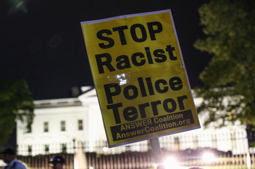 Police brutality protesters marched to the White House on Wednesday night. Dan Rich | Contributing Photo Editor