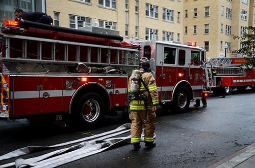 Officials responded to burnt food in Munson Hall. Katie Causey | Photo Editor