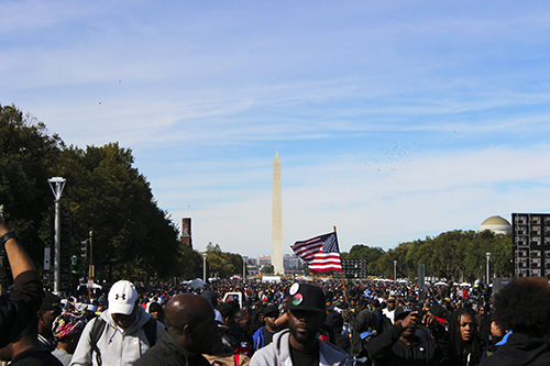 The National Mall was packed with thousands of people. Paige James | Hatchet Photographer