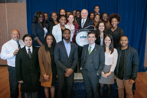 University President Steven Knapp and students from GW attended a meeting about race on college campuses at Howard University. Photo courtesy of GW Today.