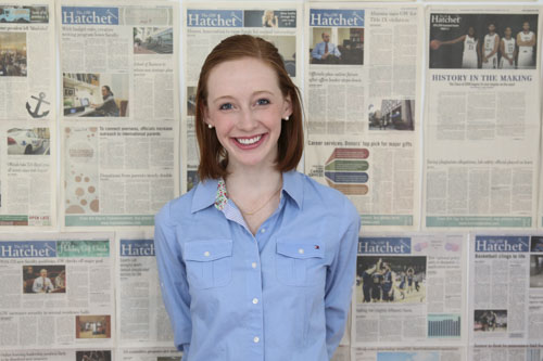 Sophomore Ellie Smith is a political communication major. Dan Rich | Contributing Photo Editor