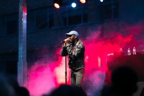 D.C. rapper Goldlink was the headline for this year's Spring Fling concert. Nicole Radivilov | Hatchet Staff Photographer