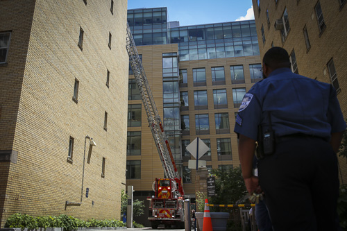 D.C. Fire and EMS extingished a fire in Muson Hall Monday afternoon. Dan Rich | Photo Editor