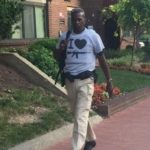 GW Safety and Security released this photo of a man allegedly carrying an assault rifle near campus.