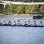 Women's rowing raced in the Head of the Potomac on Sunday. Keegan Mullen | Hatchet Photographer