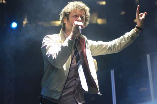 Passion Pit preforms at the All Things Go Music festival Saturday. Anne McBride | Hatchet Staff Photographer