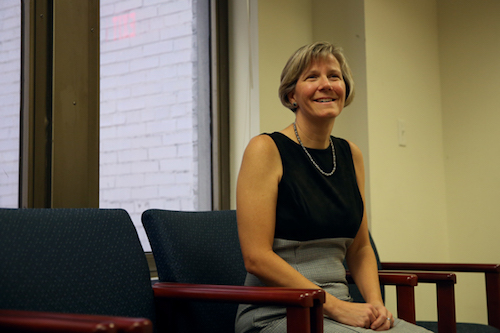 Laurie Koehler, the vice provost for enrollment management and retention, said GW's new test-optional policy helped to create the most diverse freshman class in University history. Hatchet file photo by Dan Rich | Photo Editor.