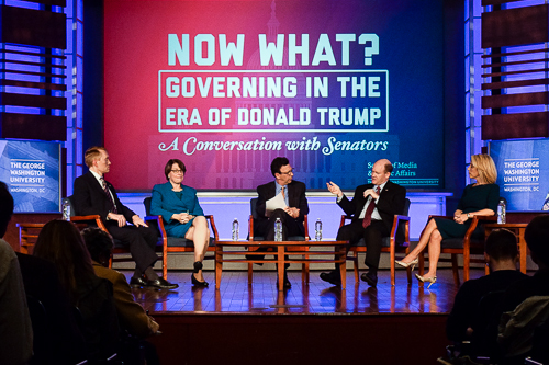 Three senators discussed the future under President-elect Trump at an event Tuesday evening. Elizabeth Rickert | Hatchet Photographer