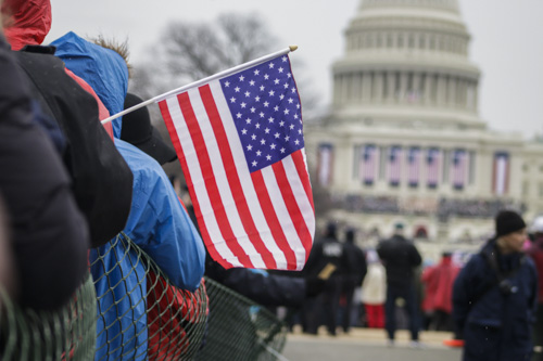 Attendees gathered on the National Mall to witness the inauguration of President Donald Trump.