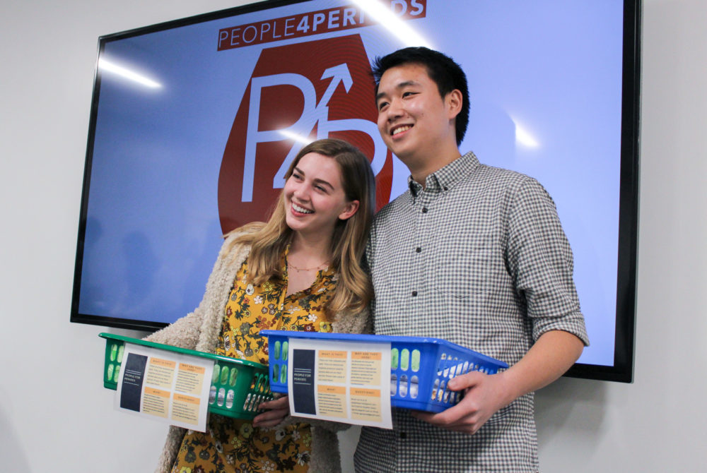 Student-led project provides free pads, tampons in campus bathrooms