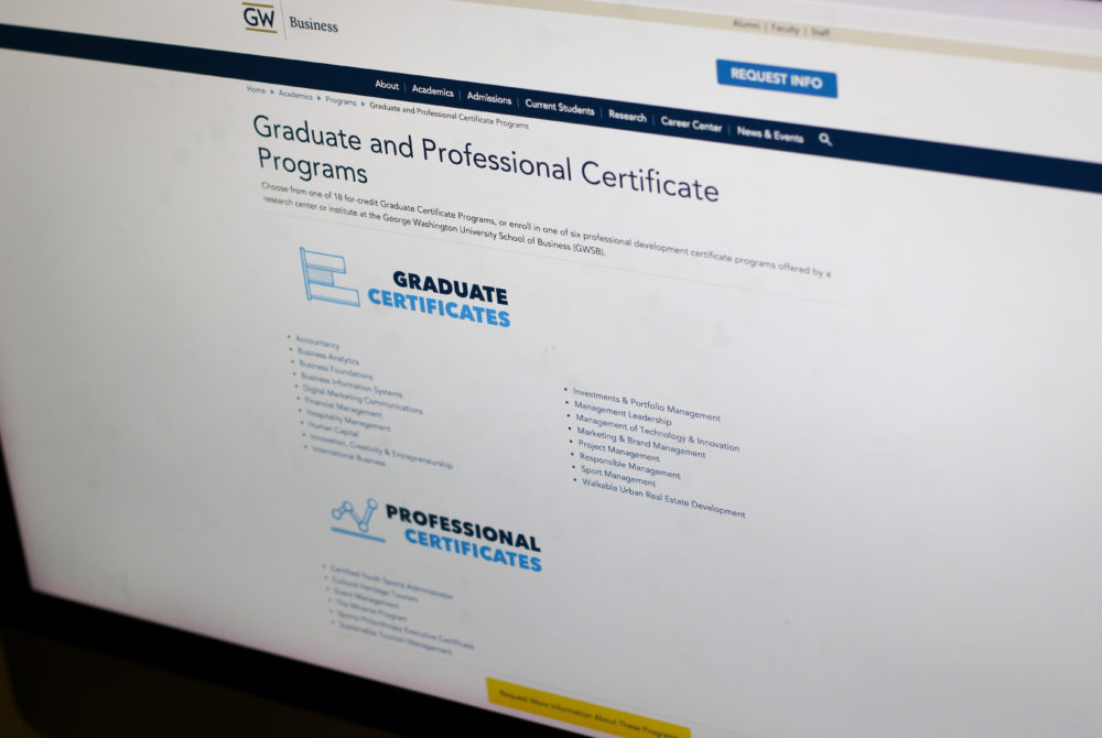 Business School To Expand Online Certificate Programs The Gw Hatchet
